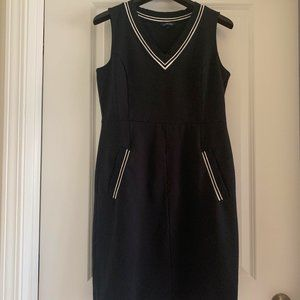 Lands' End Black Dress